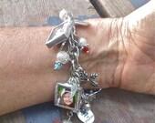 Custom Photo Charm Bracelet with 6 photos