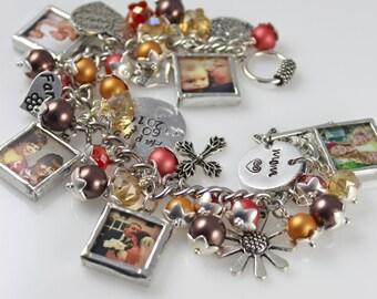 Mom jewelry, mom bracelet, photo jewelry, mom gift, picture bracelet, personalized jewelry, keepsake bracelet