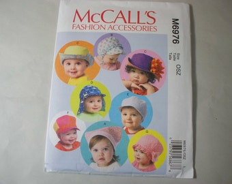 New McCall's Baby  Hat Pattern, M6976 (Free US Shipping)