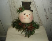 Snowman Make Do Nodder, Primitive, Rustic, Snowman, Christmas, Winter, Make Do, Ofg, Faap, Hafair, Dub, Cij