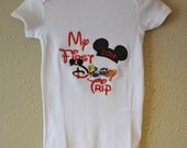 My First Disney Trip 2015 T shirt or onesie Mickey Mouse