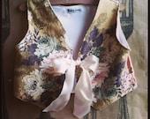 Vintage Bark Cloth Vest in 3-4 T