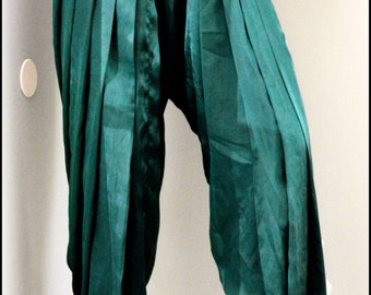 Topsycurvy beautiful Drawstring Satin Dark Green Hareem pants - LAST ONE HURRY
