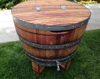 Napa Wine Barrel Ice Chest/Cooler
