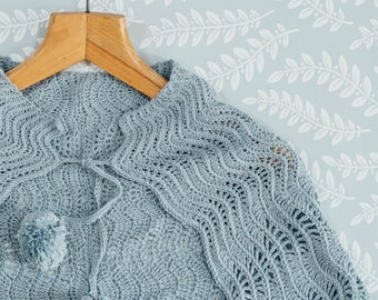 PDF Pattern for Crochet Ripple Wrap