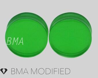 6g Green Apple Glass Plugs (4mm)