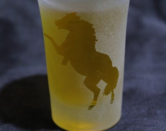 Shot or Dessert glasses - Horses set of 2