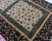 Sunflowers and Oak Leaves Quilted Table Runner