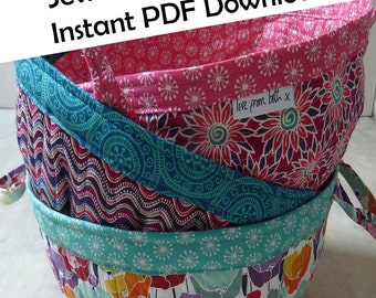 Project Baskets PDF sewing pattern