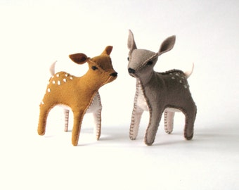 Hello My Deer - DIY pdf Pattern and Instructions --INSTANT DOWNLOAD-- fawn reindeer Bambi