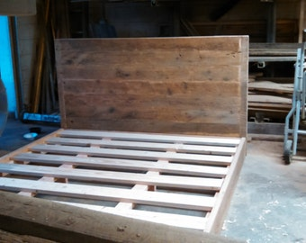 YOUR Made to Order Rustic and Recliamed Barn Wood Bed FREE SHIPPING - BWB13F