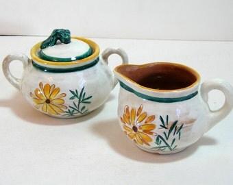 Stangl Terra Rose Sugar And Creamer Set