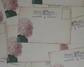 100 Vintage Post Card Wedding Place Card or Wedding Escort Cards - Pink Hydrangea