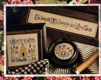 Lizzie Kate - Busy Bee #165 - Counted Cross Stitch Pattern Chart with Charms