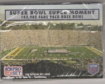 Unopened NFL Promotional Card Pack from Super Bowl 25 Football Game copyright 1990
