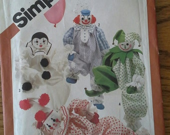 SALE*** Simplicity 5259 Pattern for Decorative Craft Clowns