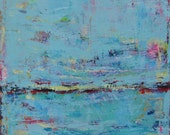 BLUE ART, Peaceful Modern Abstract Original Painting, 30 x 30 inches