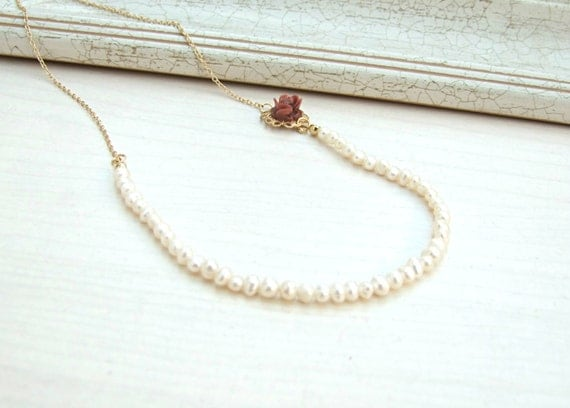 real pearl necklace vintage bridal necklace by yaelsteinberg
