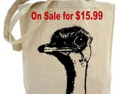 Canvas tote bag - Ostrich tote - Eco friendly.