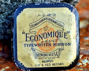 antique typewriter ribbon tin...   Home Decor...  L  T 16