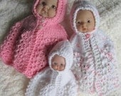 Doll Clothing Knit Pattern Berenguer Baby Doll Carrying Cape for the 5 and 7.5 and 8inch dolls knitting pattern instant download