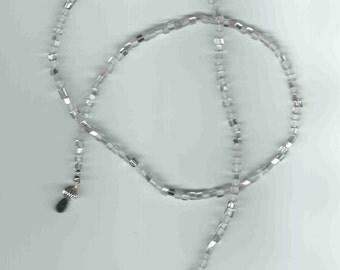 Handmade Eyeglass Chain in Ice Crystals