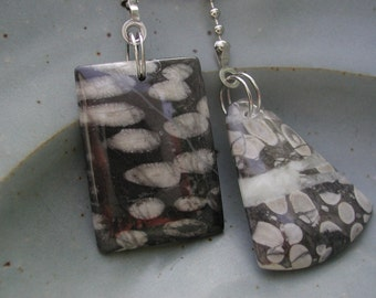 Fan Dangle / Nipomo Coral on Silver Light Pulls Switch Pull Bright Grey Gray Charcoal Fossil