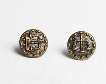 Bronze Astrology Studs - Libra, Scorpio, Virgo