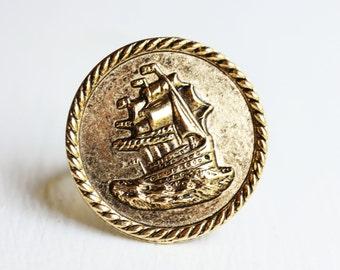 Rope Border Ship Ring