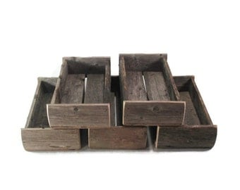 Rustic Wedding Centerpieces - Reclaimed Wood Boxes - Country Wedding Decor