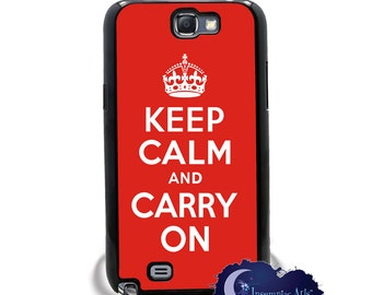 Keep Calm and Carry On, Red Poster Case for the Samsung Galaxy Note Models