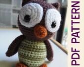 Amigurumi Crochet Woodland Owl Forest Buddy Doll Pdf Pattern