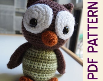 Amigurumi Crochet Woodland Owl Forest Buddy Doll Pdf Pattern