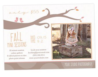 Fall Mini Session Marketing Board Template for Photographers - INSTANT DOWNLOAD