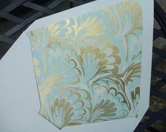 Lined Envelopes ~ (Floral Marble) Set of 10
