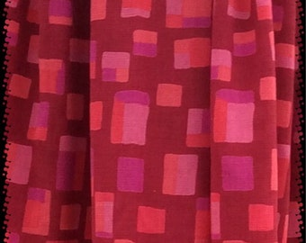 ON SALE!!!  Pink orange squared patterned bellydance pantaloons lounge pants