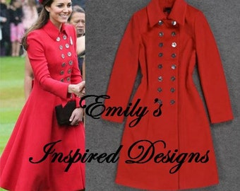 Kate Middleton Red Australia Tour Coat