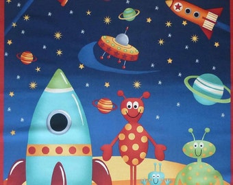 SPACE ALIENS #877 panel by Andover Fabrics