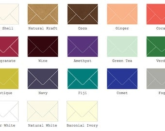 "A8 Envelopes 5 1/2"" x 8 1/8"" (140mm X 206mm )  25/Pk"