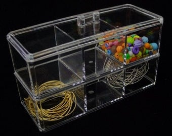 2 Layer Acrylic Stackable Bench Organizer   SALE