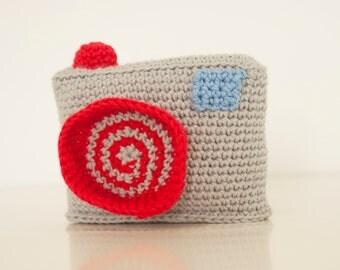 Crochet pattern photo camera -  amigurumi digital camera pattern - Instant Download PDF by Bigunki