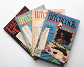 Vintage Alfred Hitchcock's Mystery Magazine 1980s Set of 4