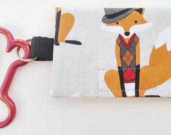 The Bag Buddy - Dog Mess Bag Pouch / Poop Bag Holder / Pet Leash Purse / Dog Waste Bag / Pet Mess / Pet Accessories / Handmade / Fox