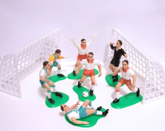 Soccer Players and Goals and Goalers Cake Topper