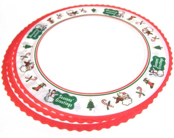 25 Christmas Paper Doilies for Cake or Craft Greaseproof