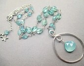 Blue Chalcedony Briolette Pure Bliss Necklace