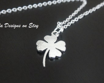 Four Leaf Clover Shamrock Necklace