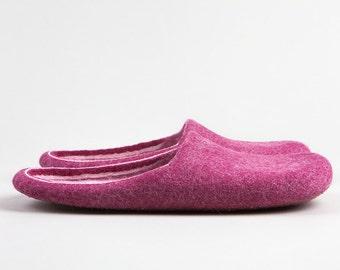 Like a sweet raspberry jam Felt slippers HandMade To Order