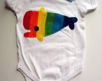 Rainbow Whale Infant Bodysuit