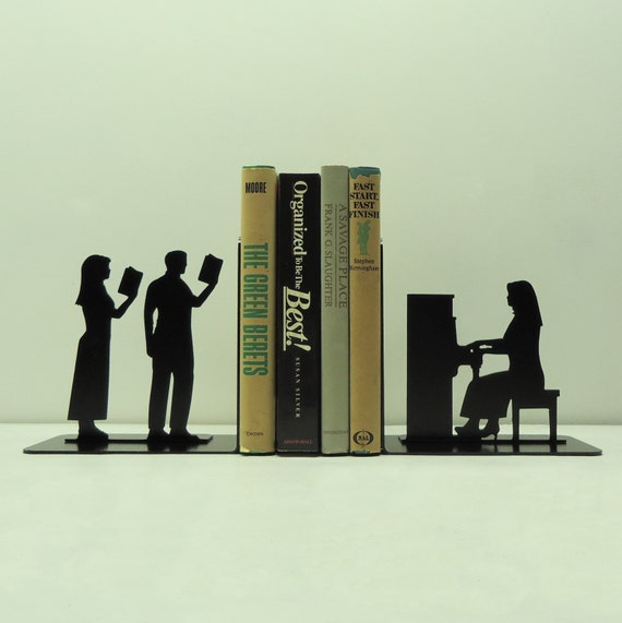 Piano player metal art bookends free usa by knobcreekmetalarts - Piano bookends ...